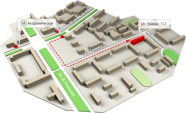 Карта проезда в клинику Детали